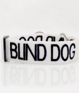 Blind Dog Collar (white)