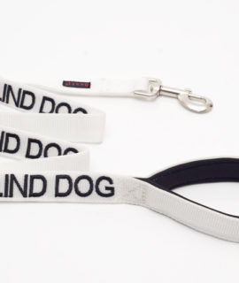Blind Dog Lead (white)