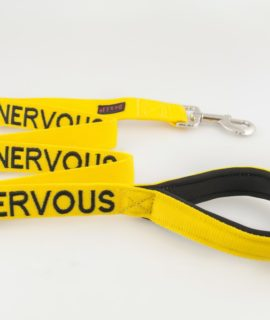 Nervous Dog Lead (yellow)
