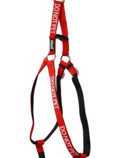 Do Not Pet Strap Harness (red)