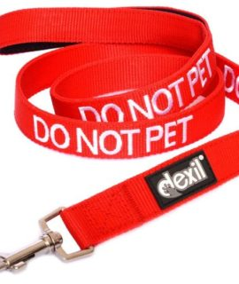 Do Not Pet Dog Lead (red)